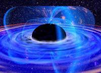 Schets van een zwart gat dat gevoed wordt met materie van buitenaf