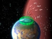 Via magnetische stralen ontsnapt zuurstof uit de atmosfeer