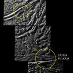 Cassini ziet de geiserbronnen op Enceladus