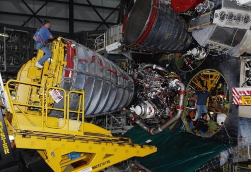 Een motor van de Atlantis