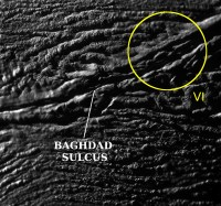 Geiserbron VI op Enceladus