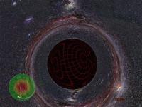 Binnenin een zwart gat