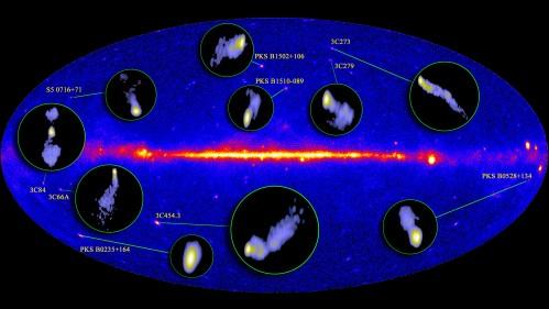 Radio- en gammabronnen bijeen