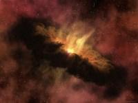 Een protoplanetaire schijf