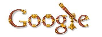 Google's logo i.v.m. 400 jaar telescopen