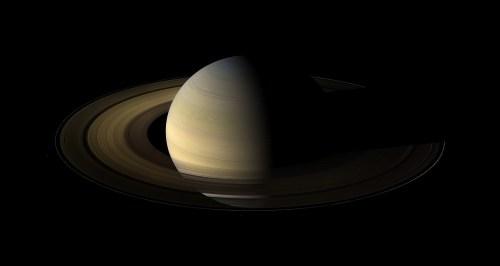 Saturnus tijdens equinox