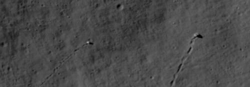 Rollende stenen op de maan