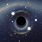 Zwarte gaten en donkere materie bijten elkaar