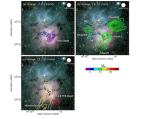 Botsende gaswolken in de Trifidnevel wijzen op stervorming