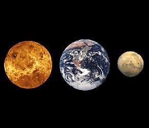Waarom verschillen Venus, Aarde en Mars zoveel van elkaar?