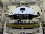 Mars Science Laboratory Curiosity op het hitteschild getakeld