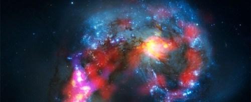 Het Antennestelsel, gefotografeerd door ALMA