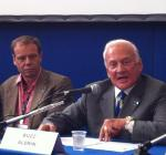 Buzz Aldrin's press conference during the IAC 2012 in Naples