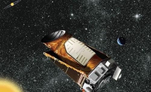 Impressie van de Kepler ruimtetelescoop