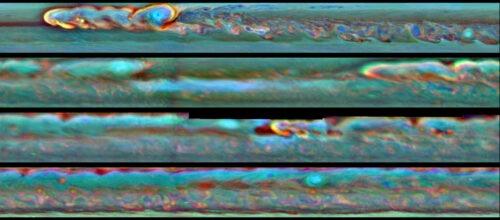 Storm Saturnus Kop Staart Vortex
