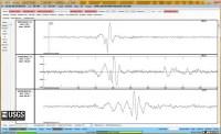 Seismogram van de trillingen die de meteoriet boven Rusland vandaag veroorzaakte.