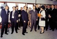 De toenmalige Prinses Beatrix bij de inwijding van ESTEC in 1968