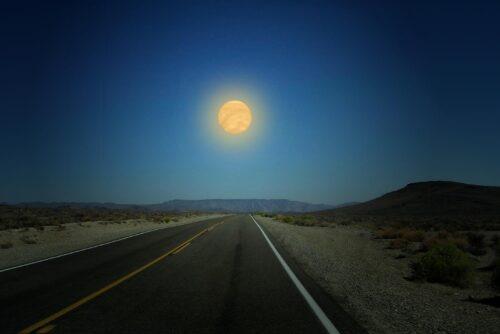 Venus als maan