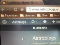 De Astroblogs ligt er regelmatig uit.