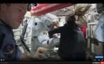 Parmitano's tweede ruimtewandeling afgebroken door waterlek in zijn helm