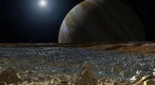 Europa with Jupiter Sun