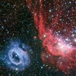 Twee prachtige wolken van gloeiend gas in beeld gebracht