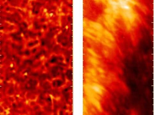 chromosfeer bij rustige en onrustige zon