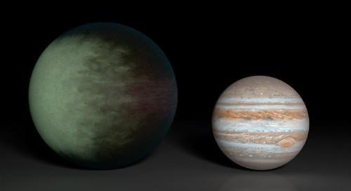 Kepler-7b en Jupiter
