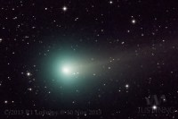 De komeet Komeet Lovejoy, momenteel te bewonderen aan de hemel