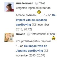 Avatars in reacties op de Astroblogs