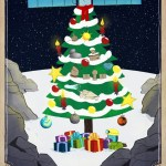 Philae en Rosetta doen vanaf komeet 67P de kerstgroeten aan iedereen