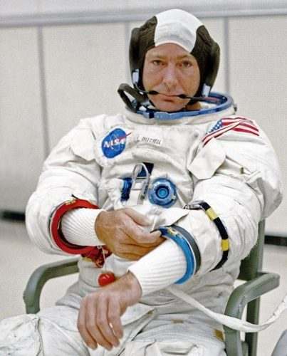 Photo of Edgar Mitchell: credits NASA, courtesy of Retro Space Images