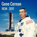 Gene Cernan, de laatste mens op de maan, is overleden