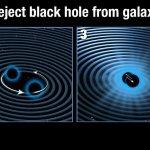 Hubble heeft superzwaar zwart gat gedetecteerd dat uit een sterrenstelsel is weggeschoten
