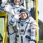 Duo astronauten gearriveerd bij het ISS