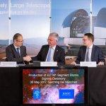 ESO tekent contracten voor de reusachtige hoofdspiegel van de ELT