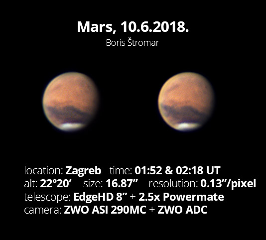 Mars, 6.10.2018.