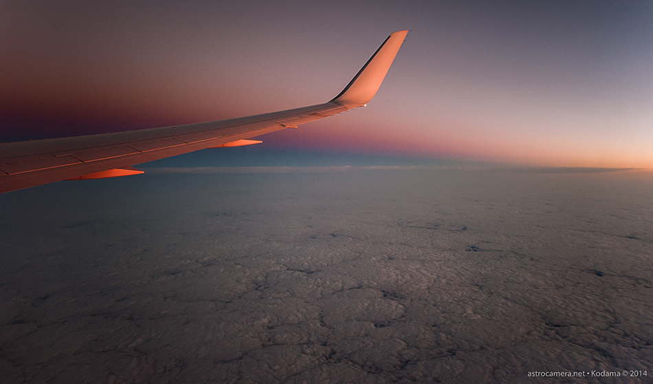 Into the Night - Sunset from 39,000 feet