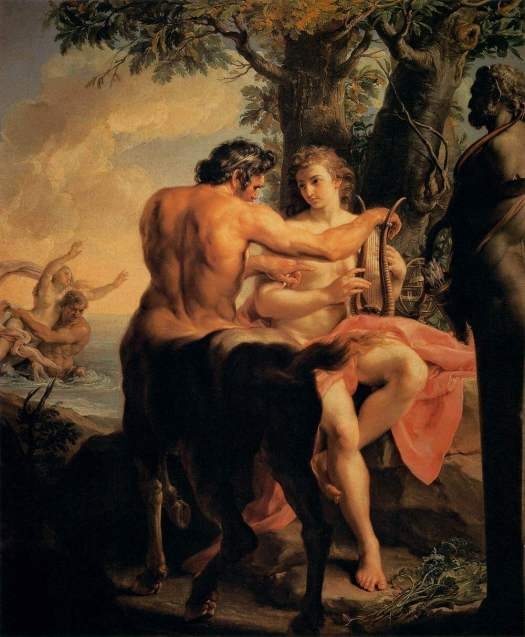"Chiron Mars Aspects in Astrology: ""Achilles and the Centaur Chiron"" by Pompeo Batoni"