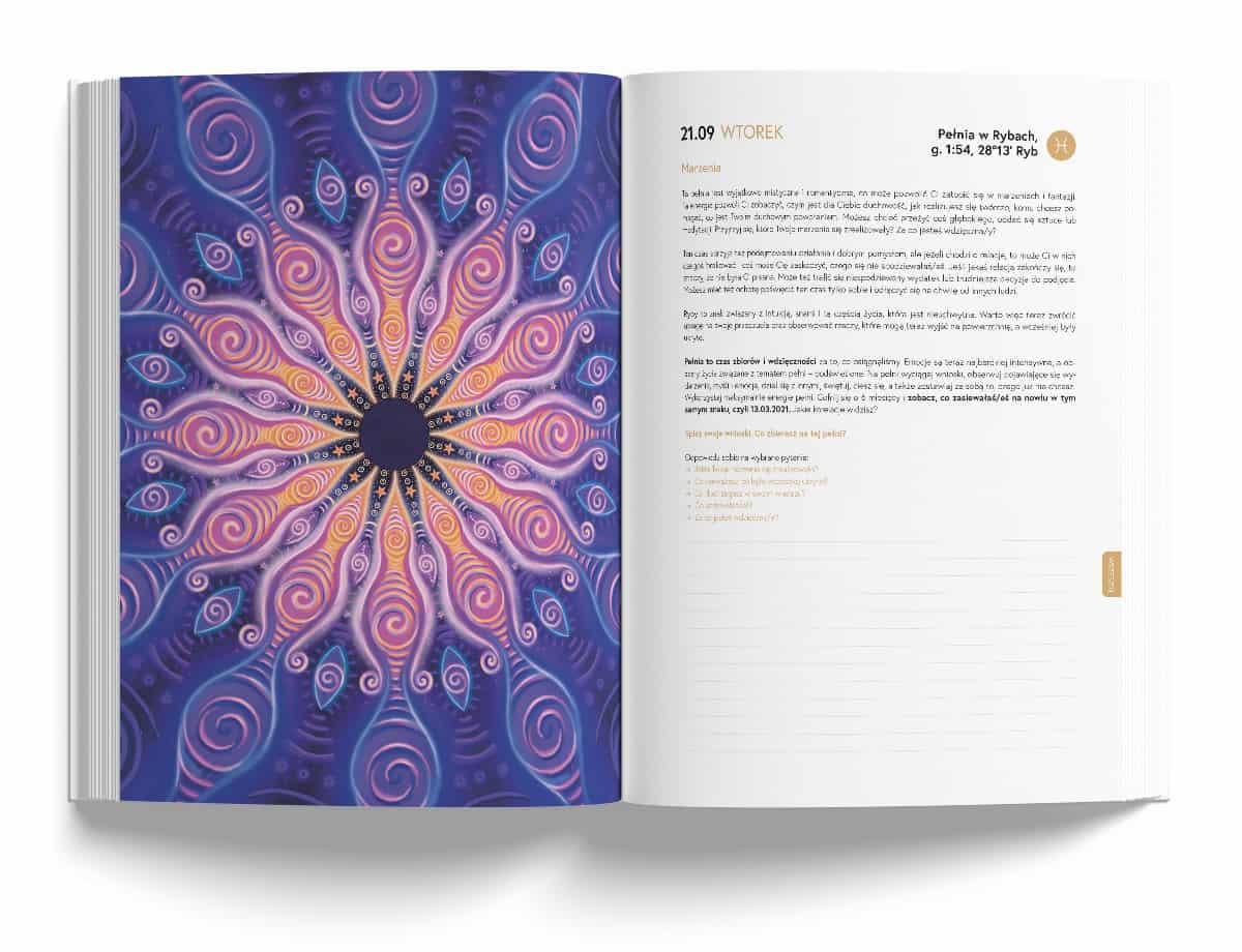 Astrokalendarz PRO 2021 Kasia Synal pełnia w Rybach