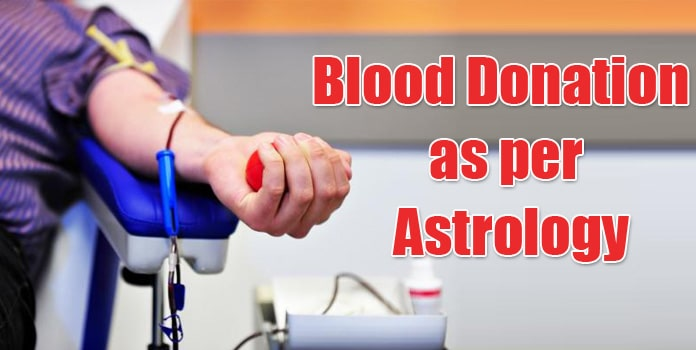 Blood Donation as per Astrology