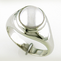 Men's Pearl Rings for Jyotish / Vedic Astrology & Ayurveda
