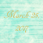 Astrology of Today – Saturday, March 25, 2017