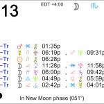 Astrology of Today – Thursday, September 13, 2018