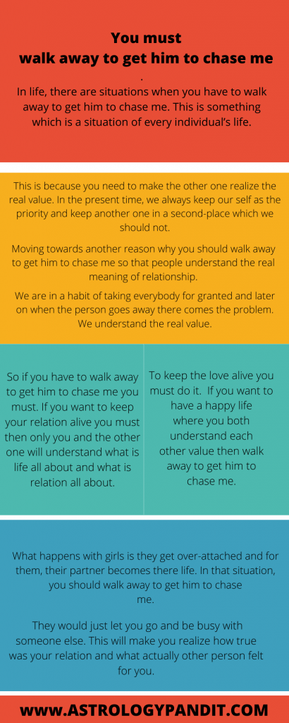 walk away to get him to chase me infographic