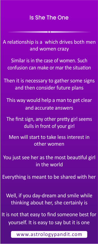 is she the one? infographics
