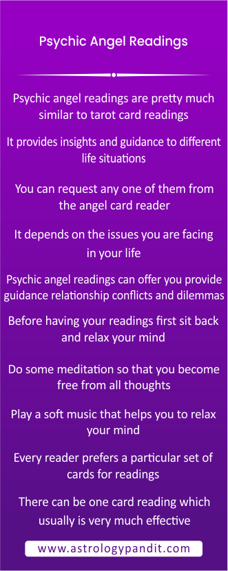 Psychic Angel Readings – How Does It Work? info graphic