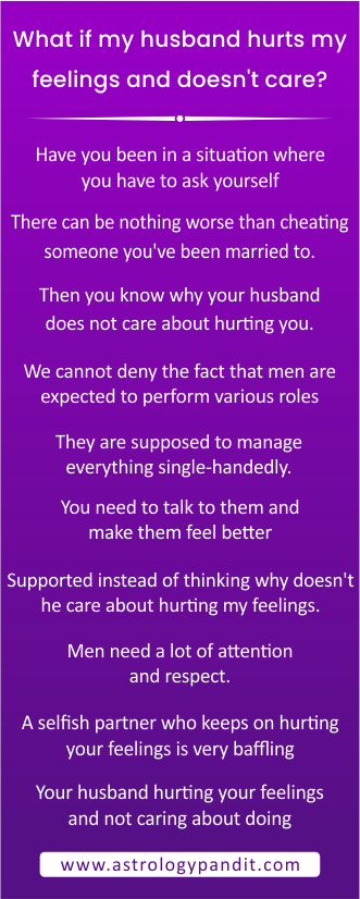 What if my husband hurts my feelings and doesn't care info graphic