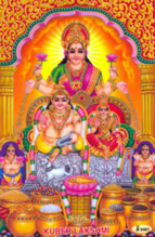 Kubera showers wealth to almighty