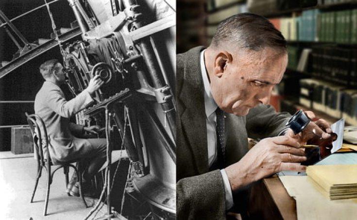 Edwin Hubble al lavoro